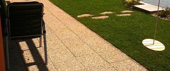 Vymývané betónové dlaždice