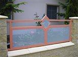 3d - detail plotu Sena s ornamentom kosoštvorec v dvojfarebnej kombinácii