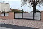 8a - plot Sena, výplň dierovaný hliníkový plech malý štvorček