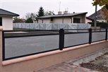 8d - datail plotu Sena, výplň dierovaný hliníkový plech malý štvorček